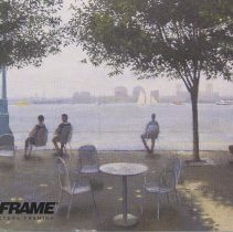 """Image of Postcard announcement from FastFrame for exhibition of Frank Hanavan """"Hoboken and Environs II,"""" Oct. 15 - 28, 2005, 1114 Washington St., Hoboken. - Postcard"""