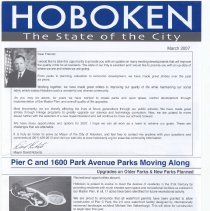 Image of Hoboken: The State of the City. March 2007. - Booklet