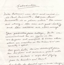 Image of Michael Coleman introduction written by him for use by Robert Foster at his lecture, Hoboken Historical Museum, June 24, 2007. - Documents