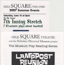 Image of Program: Play reading, Lamppost Reunion, by Louis LaRusso at HHM, May, 2007. - Program