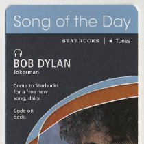 """Image of Coupon: Starbucks [Coffee] / iTunes promotion """"Song of the Day"""" download coupon. (Hoboken, 2007.) - Coupon"""