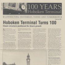 Image of 100 Years: Hoboken Terminal. Connecting Yesterday, Today and Tomorrow. February 2007. - Newsletter