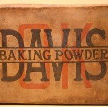 Image of Shipping box for Davis OK Baking Powder, R.B. Davis Company, Hoboken, N.J., no date, circa 1910-1925. - Box