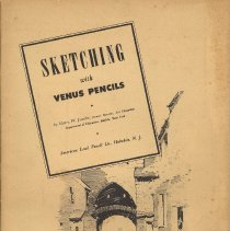 Image of Book, instructional: Sketching with Venus Pencils. Published by American Lead Pencil Co., Hoboken, N.J., copyright 1930. - Book, Instruction