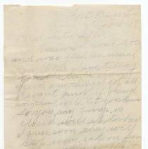 Image of Two letters from Pierce Livingston, Fort Bliss, Texas, to his sister, Mrs. C. Deile (nee Tillie Livingston), 653 First St., Hoboken, Nov. & Dec. 1917. - Letter