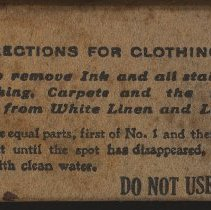 Image of right, directions for clothing