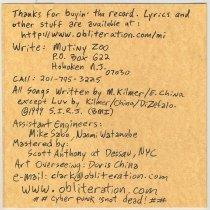 Image of liner notes inside