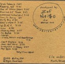 Image of back liner notes