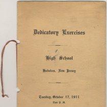 Image of Program: Dedicatory Exercises, High School, Hoboken, New Jersey, Tuesday, October 11, 1911. - Program