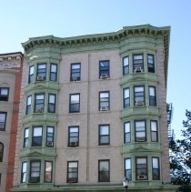 Image of Color photos, 24, of apartment building at 13th & Washington Sts., Hoboken, Oct. 18, 2005. - Photograph