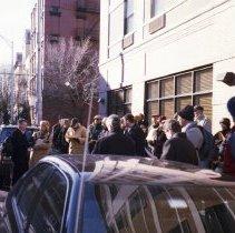 Image of Digital images, 18, of Historic Sites Walking Tour led by Allen Kratz, Hoboken, March, 2005. - Print, Photographic