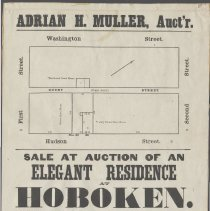 Image of Broadside poster: Sale at Auction of an Elegant Residence at Hoboken. March 6, 1866. - Poster