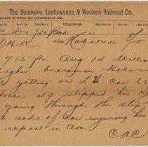 Image of Doc 2: telegram handwritten