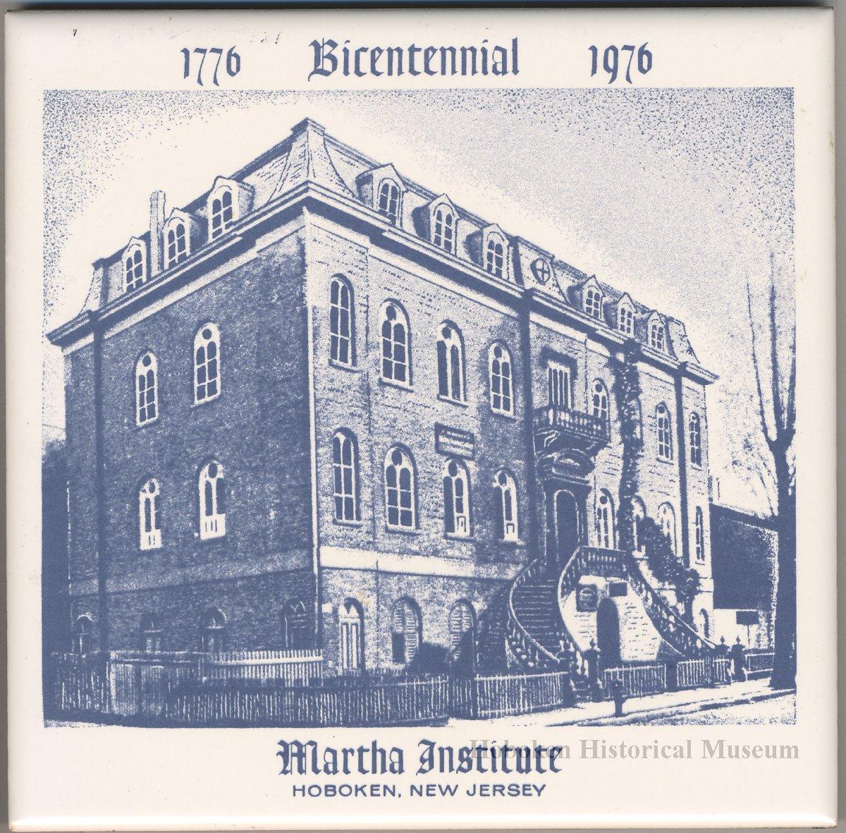 Ceramic Commemorative Tile 1776 1976 Bicentennial Martha Institute