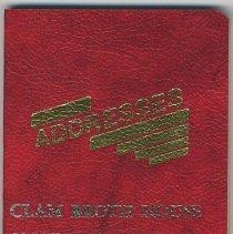 Image of Address book imprinted Clam Broth House, 38 Newark St., Hoboken, no date, ca. 1985-2000. - Book, Address