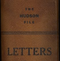 Image of File box: The Hudson File. Manufactured by Hoboken Stationery & Printing Co., 94 Hudson St., Hoboken. no date, ca. 1900. - Box, File