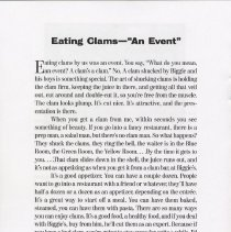 "Image of pg 8 Eating Clams - ""An Event"""