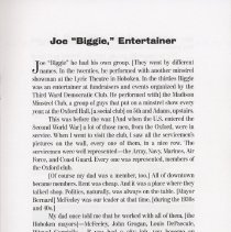 "Image of pg 11 Joe ""Biggie,"" Entertainer"