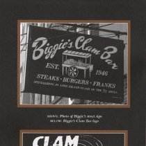 Image of pg [iv] Biggie's Clam Bar sign and logo.