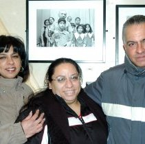 Image of Digital images, 3, of Negron family members at exhibition, From Another Time: Hoboken in the 1970s, HHM, Feb. 7, 2007. - Print, Photographic