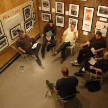 Image of Color photos, 5, of rehearsal for LaRusso play reading, Hoboken Historical Museum, Hoboken, May 10, 2007. - Photograph