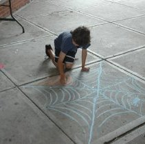 Image of Digital images, 3, of family walkway activities, HHM, Hoboken, Sept. 22, 2007. - Print, Photographic