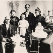 Image of B+W copy photo of the Sonntag & Durstewitz families, no place, no date, circa 1890-1900. - Print, Photographic