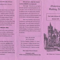 Image of Brochure: Historical Walking Tour, Our Lady of Grace Church, 400 Willow Ave., Hoboken, ca. 2003-2006. - Brochure