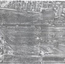 Image of Drawing: N.J. Transit Hoboken Railyard. Aerial Photograph, Date Flown April 28, 1947. - Drawing