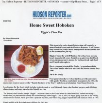 Image of Digital images of on-line article: Biggie's Clam Bar. Hudson Reporter (Hudson Current), May 24, 2006. - Documents