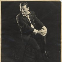 Image of B+W publicity photo of Jimmy Roselli, no place, no date, circa 1958-1968. - Photograph