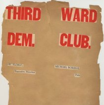 "Image of Scrapbook album: Third Ward Democratic Club, Hoboken, ca. 1925-1950 with Joe ""Biggie"" Yaccarino memorabilia. - Scrapbook"