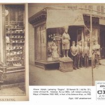 Image of Two images of Lankering & Brothers Cigars, 58 Newark Street, Hoboken, circa 1880's and circa 1902. - Print, Photographic