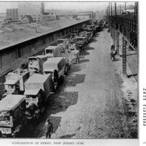 Image of Congestion leading to Hoboken Ferry on Observer Highway, circa 1918-1919. - Print, Photographic