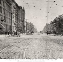 Image of View looking north on Washington Street from Ferry St.(Observer Highway) to Newark St., Hoboken, August 22, 1913. - Print, Photographic