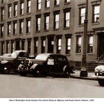 Image of Washington Street between Ferry Street (Observer Highway) and Newark Street, Hoboken, 1942. - Print, Photographic