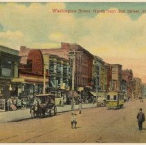 Image of Postcard: Washington St., North from 2nd St., Hoboken, N.J. No date, ca.1907-1914. - Postcard