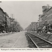 Image of View looking north on Washington St.from Second St., Hoboken, August 22, 1913. - Print, Photographic