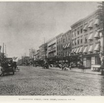 Image of B+W photo of Washington St. looking south from Third St., Hoboken, ca. 1907-1908. - Print, Photographic