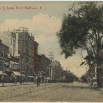 Image of Color postcard: Washington S. From Third St., Hoboken, ca. 1908; postmarked May 1918. - Postcard
