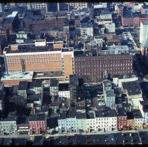 Image of Color aerial photo of Saint Mary Hospital, Hoboken, circa 1974-1975. - Transparency, Slide