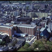 Image of Color aerial photo of Saint Mary Hospital, Hoboken, circa 1977-1978. - Transparency, Slide