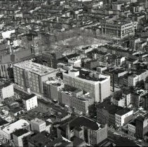 Image of B+ W aerial photos, 5, of Saint Mary Hospital & vicinity, Hoboken, circa 1976-1977. - Negative, Roll Film