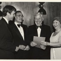 Image of B+W group photos, 5, of attendees at Saint Mary Hospital 1977 Charity Ball, Hoboken, 1977. - Print, Photographic