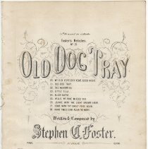 Image of old dog tray cover
