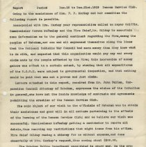Image of Report: [Fire investigation and response to] Admiral Benson Service Club, (Hoboken), Dec. 15 to Dec. 31, 1919. - Report