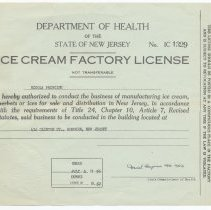 Image of actual license