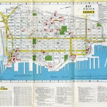 Image of Street Map of the Hoboken - North Hudson County Area with index. 1970. - Map