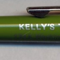 Image of Retractable ball point pen imprinted Kelly's Tavern, 1314 Washington St., Hoboken. - Pen, Ball-point