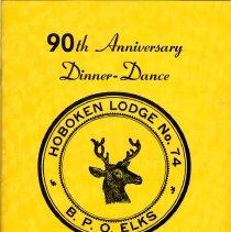 Image of Program: 90th Anniversary Dinner-Dance, Hoboken Lodge No. 74, B.P.O. Elks, April, 1979. - Program